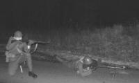 Hlídka 46. ppl čs. armády na svém stanovišti před Kovářskou